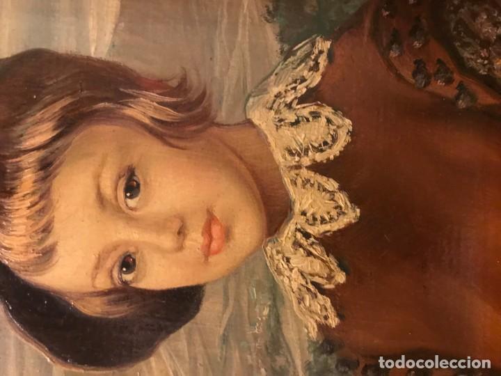 Arte: retrato principe baltasar carlos, siguiendo modelos de velazquez - Foto 7 - 139889494
