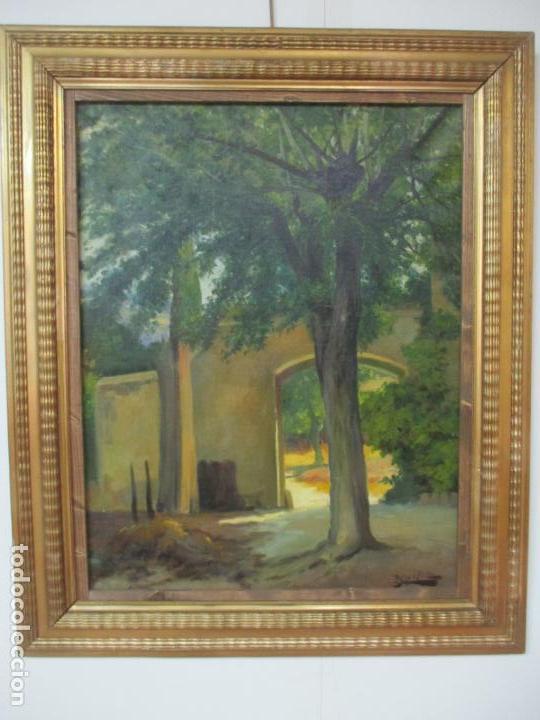 ANTONI ROS Y GÜELL (1877-1954) - BONITO PAISAJE - ÓLEO SOBRE TELA - PRINCIPIOS S. XX (Arte - Pintura - Pintura al Óleo Moderna sin fecha definida)