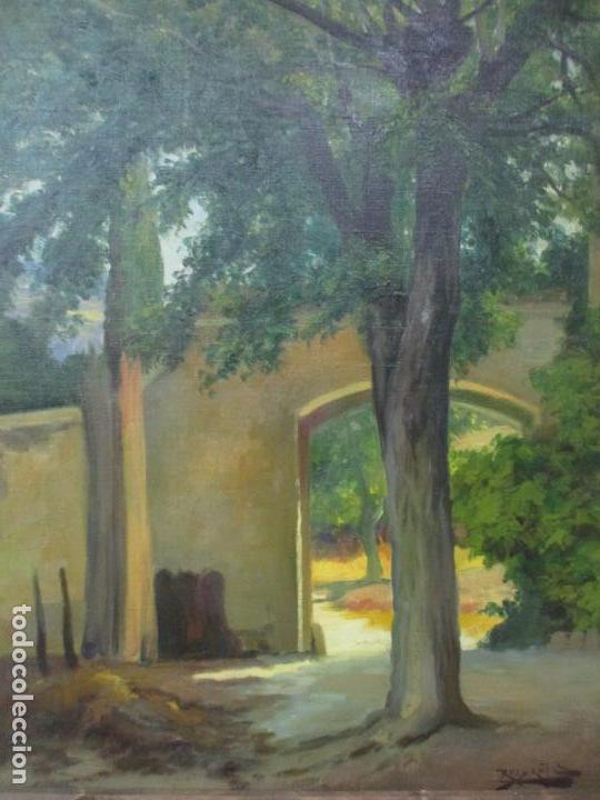 Arte: Antoni Ros y Güell (1877-1954) - Bonito Paisaje - Óleo sobre Tela - Principios S. XX - Foto 2 - 139925106