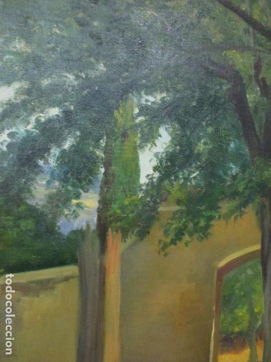 Arte: Antoni Ros y Güell (1877-1954) - Bonito Paisaje - Óleo sobre Tela - Principios S. XX - Foto 3 - 139925106