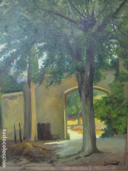 Arte: Antoni Ros y Güell (1877-1954) - Bonito Paisaje - Óleo sobre Tela - Principios S. XX - Foto 9 - 139925106