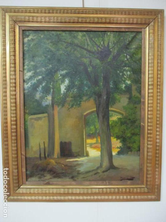 Arte: Antoni Ros y Güell (1877-1954) - Bonito Paisaje - Óleo sobre Tela - Principios S. XX - Foto 10 - 139925106