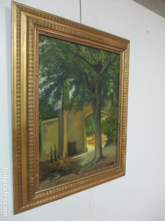 Arte: Antoni Ros y Güell (1877-1954) - Bonito Paisaje - Óleo sobre Tela - Principios S. XX - Foto 11 - 139925106