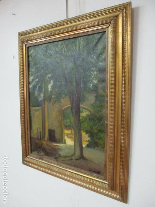 Arte: Antoni Ros y Güell (1877-1954) - Bonito Paisaje - Óleo sobre Tela - Principios S. XX - Foto 14 - 139925106