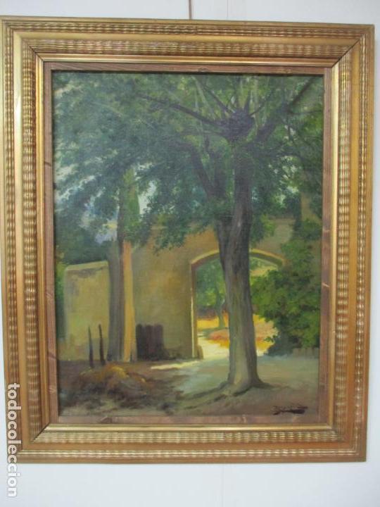 Arte: Antoni Ros y Güell (1877-1954) - Bonito Paisaje - Óleo sobre Tela - Principios S. XX - Foto 16 - 139925106