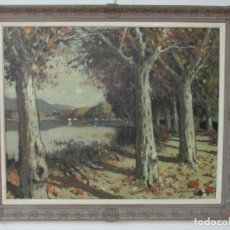 Arte: BONITA PINTURA - JOAN DE PALAU (FLAÇA 1919 - BANYOLES 1991) - PAISAJE, LLAC DE BANYOLES. Lote 139927234