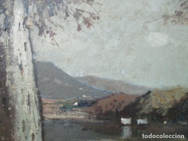 Arte: Bonita Pintura - Joan de Palau (Flaça 1919 - Banyoles 1991) - Paisaje, Llac de Banyoles - Foto 5 - 139927234