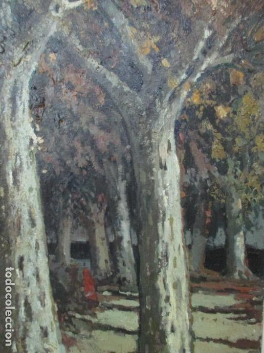 Arte: Bonita Pintura - Joan de Palau (Flaça 1919 - Banyoles 1991) - Paisaje, Llac de Banyoles - Foto 6 - 139927234