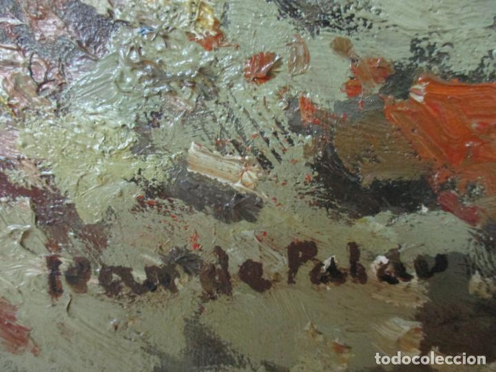 Arte: Bonita Pintura - Joan de Palau (Flaça 1919 - Banyoles 1991) - Paisaje, Llac de Banyoles - Foto 7 - 139927234