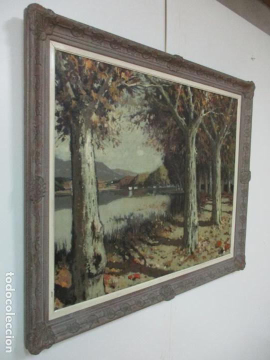 Arte: Bonita Pintura - Joan de Palau (Flaça 1919 - Banyoles 1991) - Paisaje, Llac de Banyoles - Foto 9 - 139927234