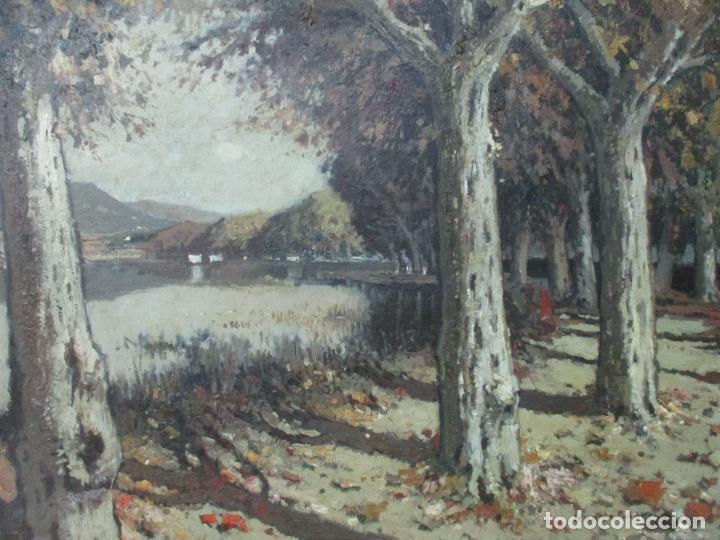 Arte: Bonita Pintura - Joan de Palau (Flaça 1919 - Banyoles 1991) - Paisaje, Llac de Banyoles - Foto 12 - 139927234