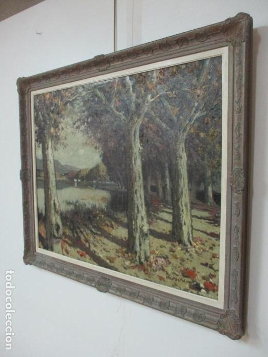 Arte: Bonita Pintura - Joan de Palau (Flaça 1919 - Banyoles 1991) - Paisaje, Llac de Banyoles - Foto 13 - 139927234