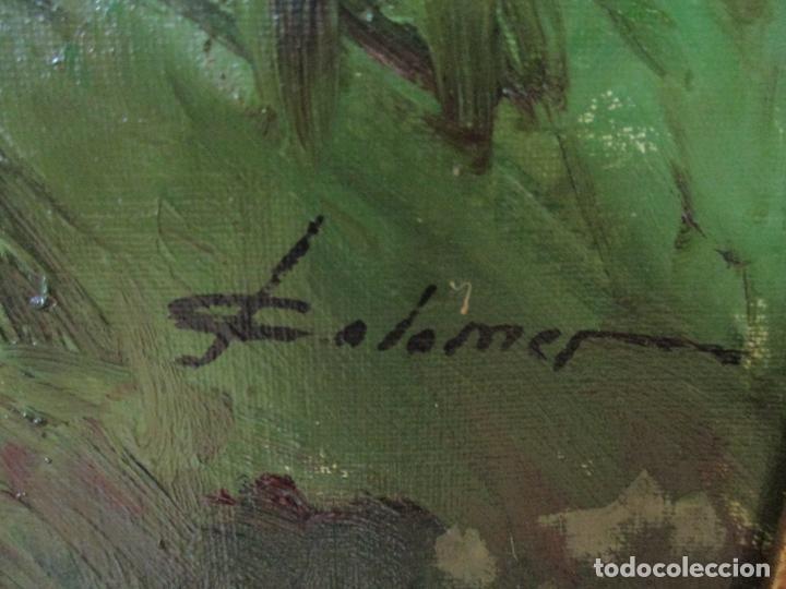 Arte: JOSEP COLOMER I COMAS (Sant Feliu de Pallerols. Girona 1935 - 2003) Bonito Paisaje con Rebaño - Foto 7 - 139929446