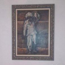 Arte: OLEO SOBRE LIENZO LUPE ARROYO GRAN FORMATO FIRMADO INDIA HINDÚ. Lote 139965722