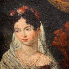 Arte: ESCUELA ANDALUZA DE LA 2ª MITAD DEL SIGLO XVIII. OLEO SOBRE TELA. RETRATO FEMENINO. Lote 139975398