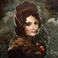 Arte: ESCUELA ANDALUZA DE LA 2ª MITAD DEL SIGLO XVIII. OLEO SOBRE TELA. RETRATO FEMENINO. Lote 139976978