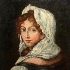 Arte: ESCUELA ANDALUZA DE LA 2ª MITAD DEL SIGLO XVIII. OLEO SOBRE TELA. RETRATO FEMENINO. Lote 139977242