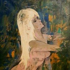 Arte: OSCAR HECTOR BONNEVALLE ( BÉLGICA 1920-1993) PRECIOSA PINTURA DESNUDO FEMENINO, FIRMADA.. Lote 140027424