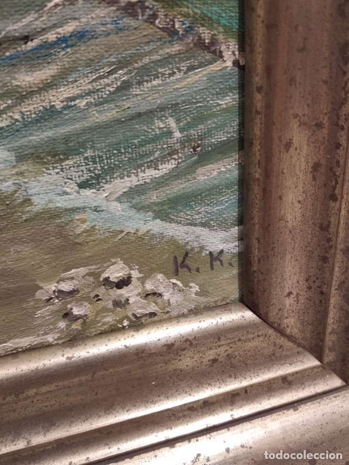 Arte: Bonito óleo sobre lienzo, firmado - Foto 3 - 140058906