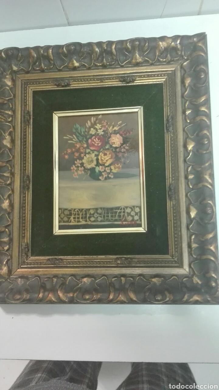 OLEO SOBRE TABLA.ENMARCADO, FLORES (Arte - Pintura - Pintura al Óleo Contemporánea )