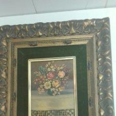 Arte: OLEO SOBRE TABLA.ENMARCADO, FLORES. Lote 140076514