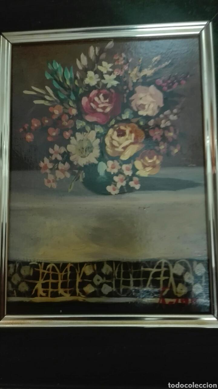 Arte: OLEO SOBRE TABLA.ENMARCADO, FLORES - Foto 2 - 140076514