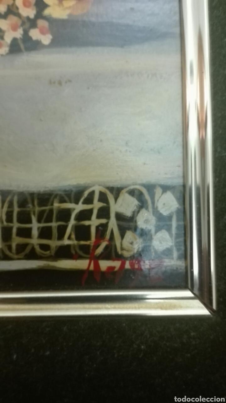 Arte: OLEO SOBRE TABLA.ENMARCADO, FLORES - Foto 3 - 140076514