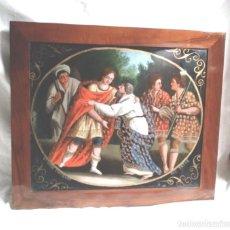 Arte: ÓLEO SOBRE CRISTAL S XIX GIUSEPPE CONOSCIUTO DAL PATRE MARCO MADERA DE NOGAL. Lote 140086762