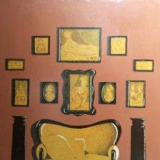 Arte: ELENA GAGO (A CORUÑA 1940 - 2011). INTERIOR CON SOFÁ. TÉCNICA MIXTA SOBRE TABLA. Lote 140089514