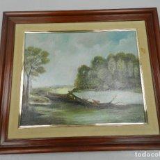 Arte: EXCELENTE PINTURA DE OLEO SOBRE LIENZO FIRAMADA POR M.J.LOPEZ ENMARCADA. Lote 152190457