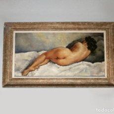 Arte: PRECIOSO DESNUDO REALIZADO POR R. GREORY - 1920 - OLEO SOBRE LIENZO. Lote 140164778
