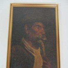Arte: ANTIGUA PINTURA AL ÓLEO SOBRE TELA - RETRATO - FIRMA - FINALES S. XIX. Lote 140204058