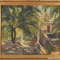Arte: CALLE DE PUEBLO. ÓLEO SOBRE LIENZO FIRMADO X. XARRIÉ. 1934. . Lote 140274046