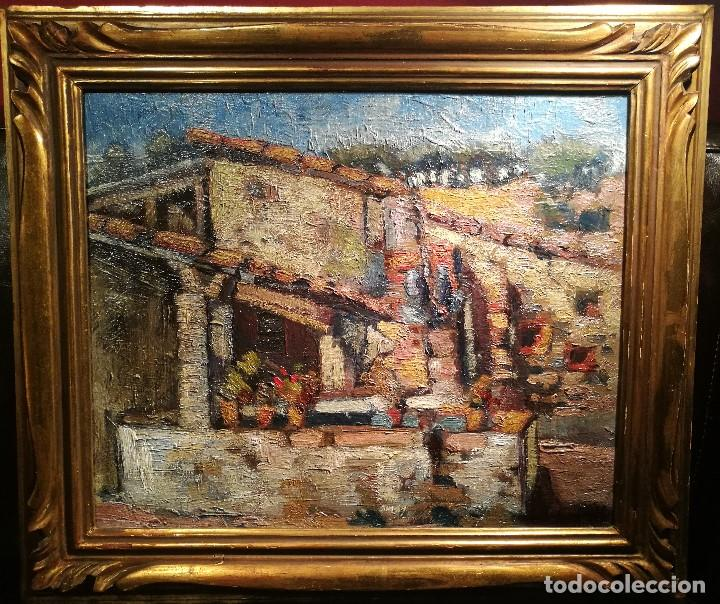 EL LAVADERO POR J.M.MALLOL SUAZO (1910-86) (Arte - Pintura - Pintura al Óleo Moderna sin fecha definida)