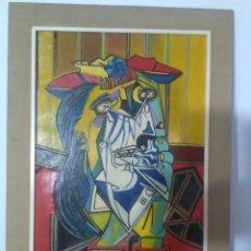 Arte: BONITA PINTURA AL ÓLEO DE MUJER LLORANDO ESTILO CUBISTA FIRMADA Y FECHADA .EL ORIGINAL ES DE PICASSO. Lote 140309470