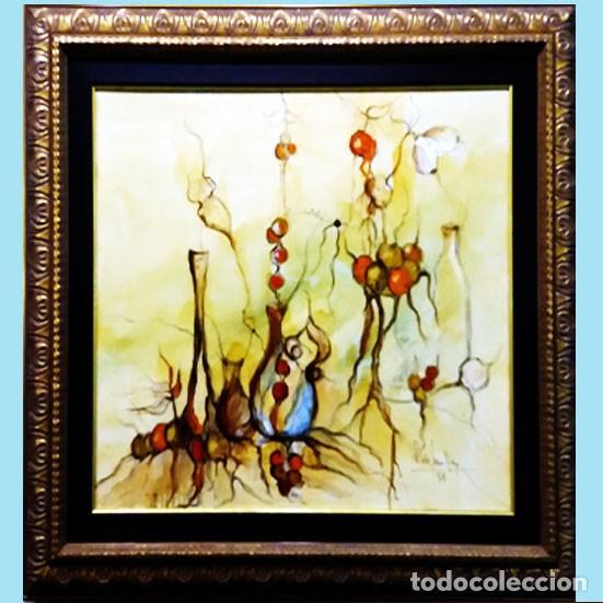 ROSENDO DE SANTIAGO GALLARDO (C.REAL 1936 - 2013).HOMENAJE AL VINO.IMPRESIONISMO FDO. 68 X 55 CM. (Arte - Pintura - Pintura al Óleo Moderna sin fecha definida)
