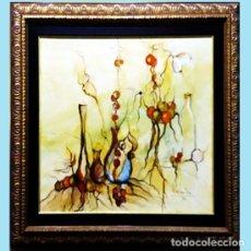 Arte: ROSENDO DE SANTIAGO GALLARDO (C.REAL 1936 - 2013).HOMENAJE AL VINO.IMPRESIONISMO FDO. 68 X 55 CM.. Lote 140324310