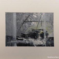 Arte: MANUEL SUÁREZ (A CORUÑA, 1972) TRONCOS. TÉCNICA MIXTA SOBRE CARTULINA. Lote 140381226