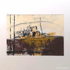 Arte: MANUEL SUÁREZ (A CORUÑA, 1972) TRONCOS. TÉCNICA MIXTA SOBRE CARTULINA. Lote 140383586
