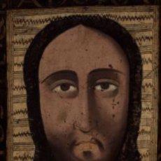 Arte: SANTA FAZ. S. XV-XVI IMPORTANTE GUADAMECÍ PINTADO. ESCUELA ESPAÑOLA. Lote 140398848