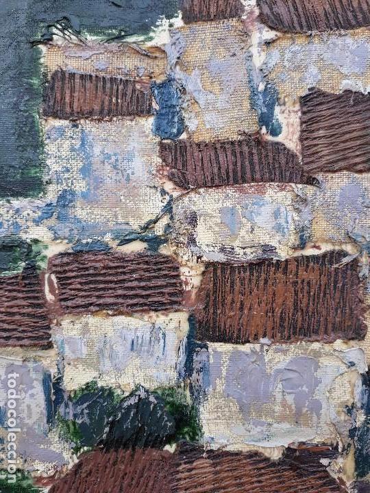 Arte: INTERESANTE Y PECIOSO OLEO - COLLAGE , precio especial - Foto 2 - 140408878