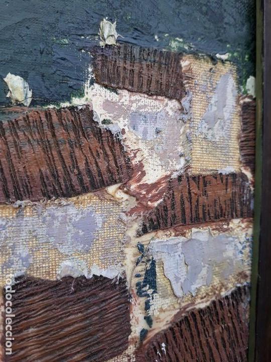 INTERESANTE Y PECIOSO OLEO - COLLAGE , PRECIO ESPECIAL (Arte - Pintura - Pintura al Óleo Contemporánea )