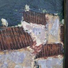 Arte: INTERESANTE Y PECIOSO OLEO - COLLAGE , PRECIO ESPECIAL. Lote 140408878