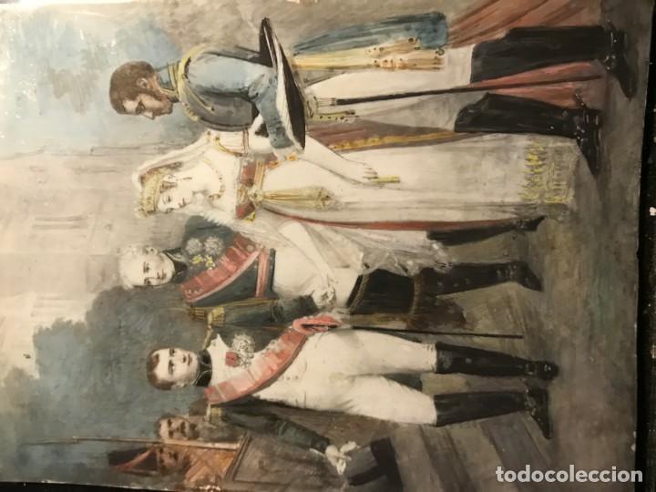 Arte: BODA DE NAPOLEON CON EMPERATRIZ M LUISA, MINIATURA FRANCESA S. XIX - Foto 2 - 140419854