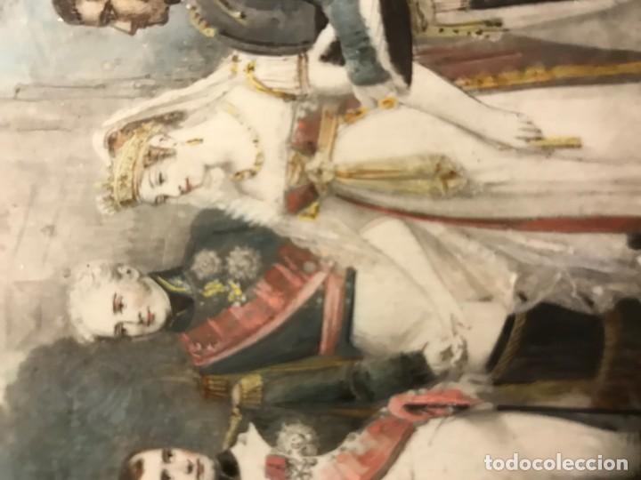 Arte: BODA DE NAPOLEON CON EMPERATRIZ M LUISA, MINIATURA FRANCESA S. XIX - Foto 3 - 140419854