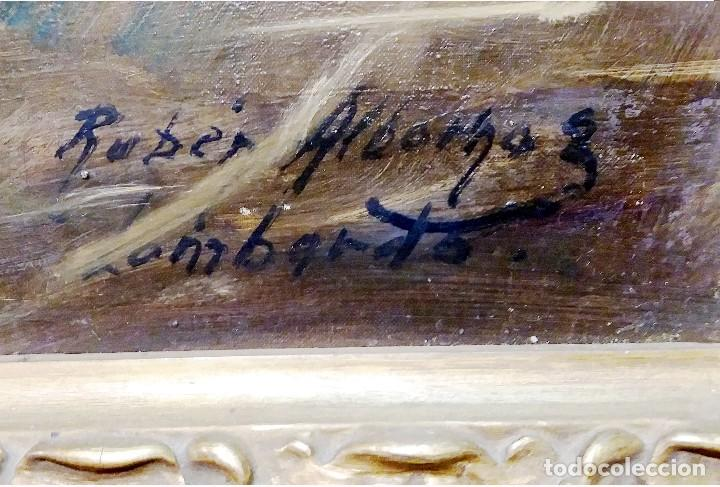 Arte: ALBORNOZ LOMBARDO,RUBEN.-SETTER IRLANDES y BORDER COLLIE-Oleo s/lienzo.101 x 91 cm.Firmado.Enmarcado - Foto 4 - 140445666