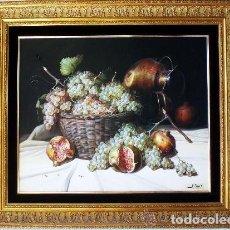 Arte: TORRES, MANUEL.-MADRID. -BODEGON-OLEO SOBRE LIENZO.85 X 70 CM. HIPERREALISMO.FIRMADO-MARCO DE LUJO. Lote 140448126