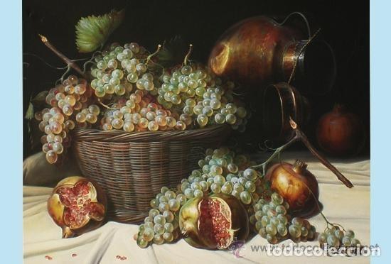 Arte: TORRES, MANUEL.-MADRID. -BODEGON-OLEO SOBRE LIENZO.85 X 70 CM. HIPERREALISMO.FIRMADO-MARCO DE LUJO - Foto 2 - 140448126