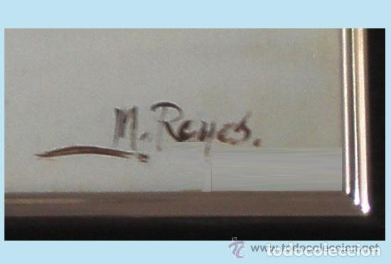 Arte: TORRES, MANUEL.-MADRID. -BODEGON-OLEO SOBRE LIENZO.85 X 70 CM. HIPERREALISMO.FIRMADO-MARCO DE LUJO - Foto 4 - 140448126