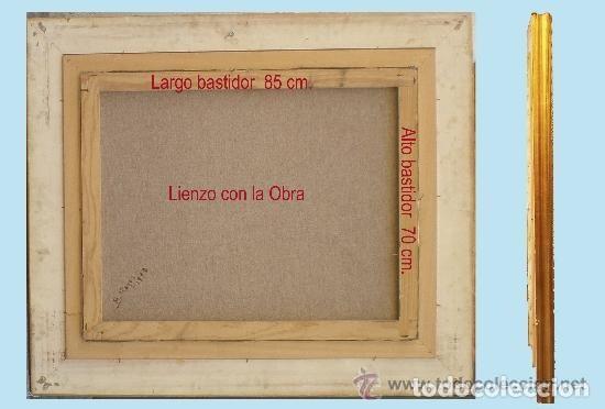 Arte: TORRES, MANUEL.-MADRID. -BODEGON-OLEO SOBRE LIENZO.85 X 70 CM. HIPERREALISMO.FIRMADO-MARCO DE LUJO - Foto 5 - 140448126